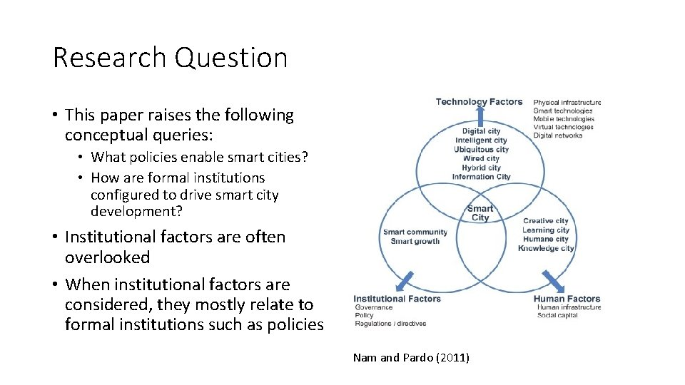 Research Question • This paper raises the following conceptual queries: • What policies enable