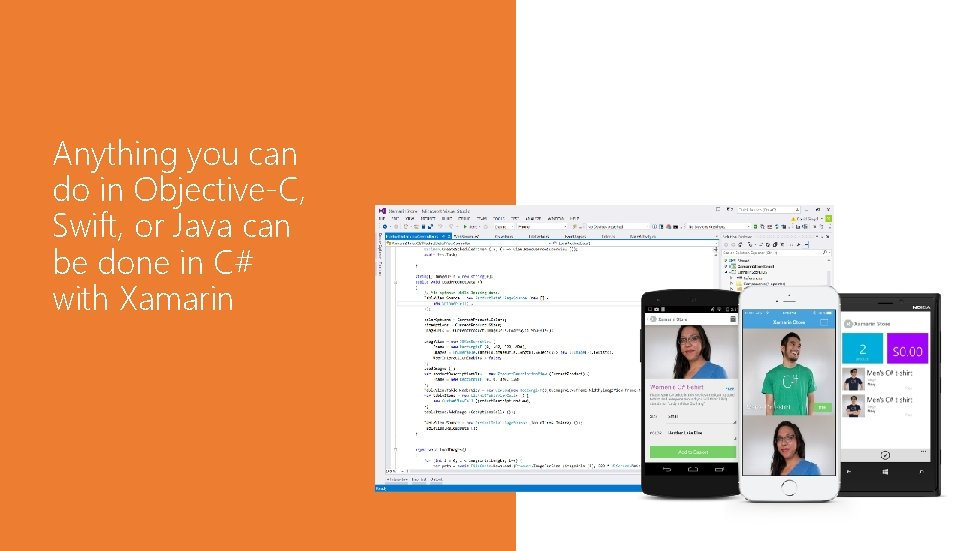 Anything you can do in Objective-C, Swift, or Java can be done in C#