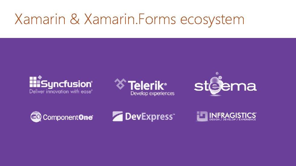Xamarin & Xamarin. Forms ecosystem