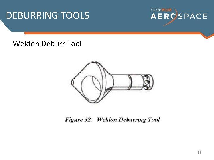 DEBURRING TOOLS Weldon Deburr Tool 14