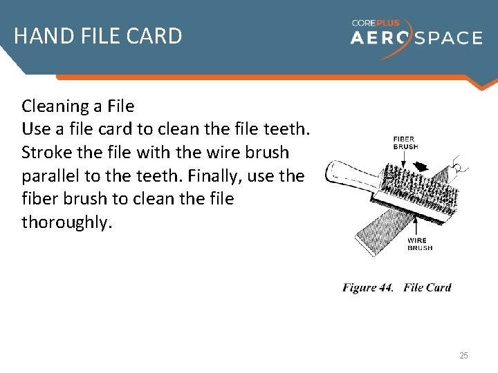 HAND FILE CARD Cleaning a File Installing a File Handle Removing a File Handle