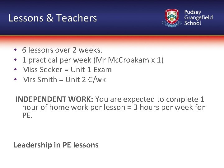 Lessons & Teachers • • 6 lessons over 2 weeks. 1 practical per week