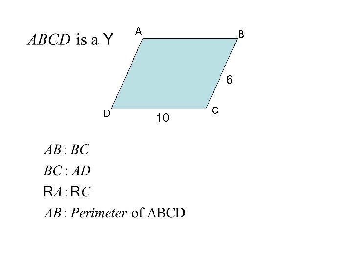 A B 6 D 10 C