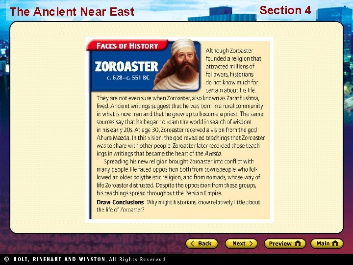 The Ancient Near East Section 4
