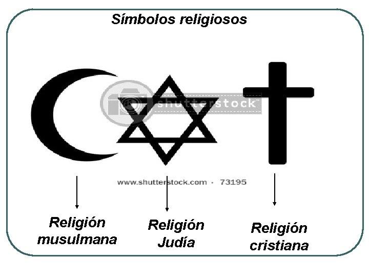 Símbolos religiosos Religión musulmana Religión Judía Religión cristiana