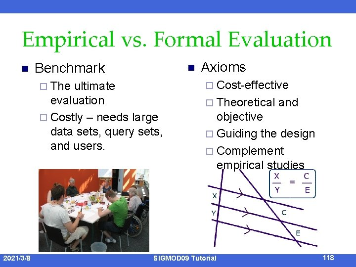 Empirical vs. Formal Evaluation n Benchmark ¨ The n ultimate evaluation ¨ Costly –