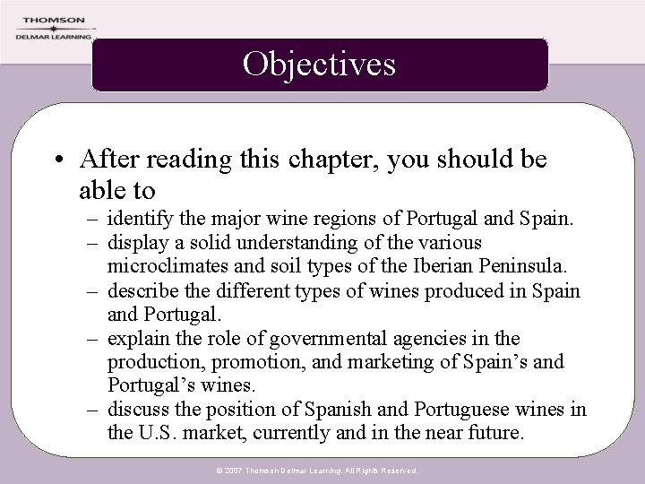 Objectives • After reading this chapter, you should be able to – identify the