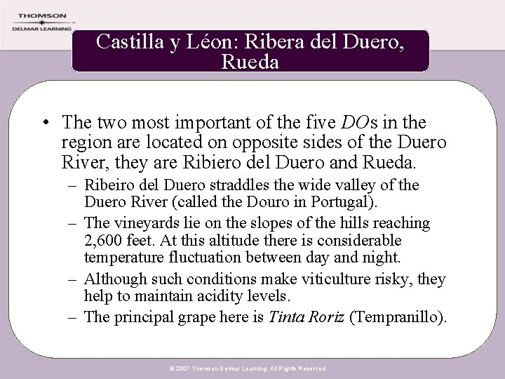 Castilla y Léon: Ribera del Duero, Rueda • The two most important of the