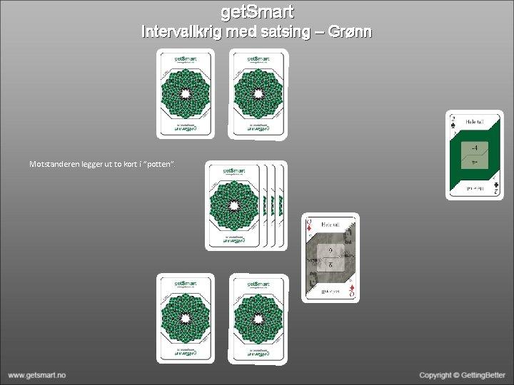 """get. Smart Intervallkrig med satsing – Grønn Motstanderen legger ut to kort i """"potten""""."""