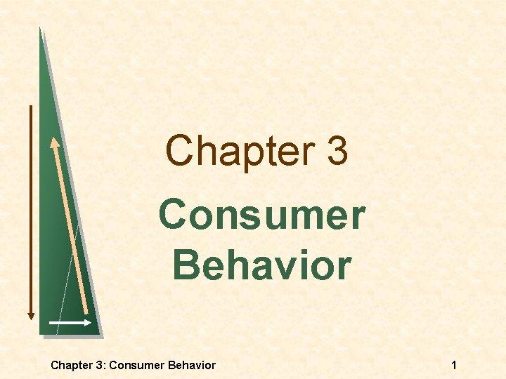 Chapter 3 Consumer Behavior Chapter 3: Consumer Behavior 1