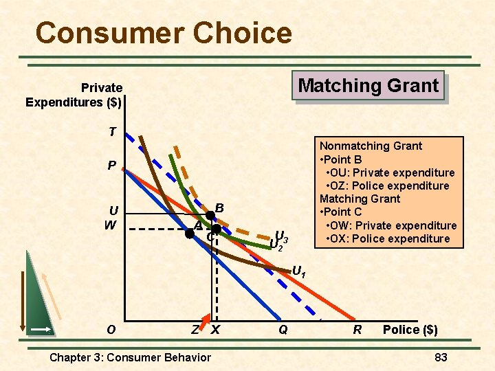 Consumer Choice Matching Grant Private Expenditures ($) T Nonmatching Grant • Point B •