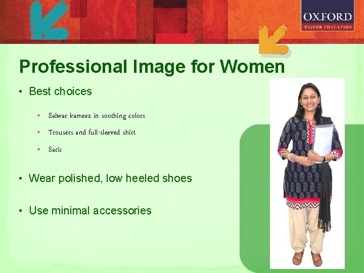 Professional Image for Women • Best choices • Salwar kameez in soothing colors •