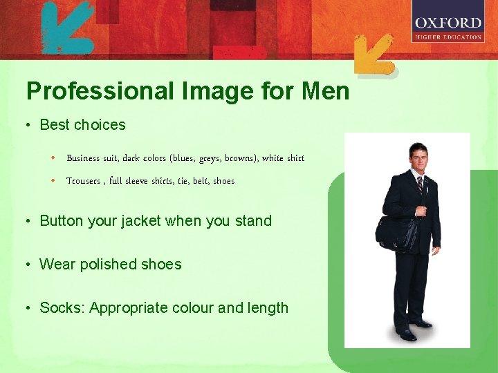 Professional Image for Men • Best choices • Business suit, dark colors (blues, greys,