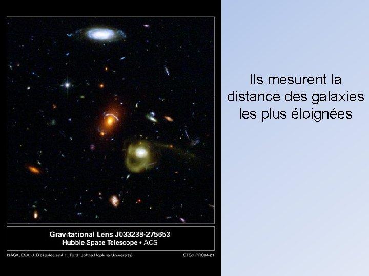 Ils mesurent la distance des galaxies les plus éloignées