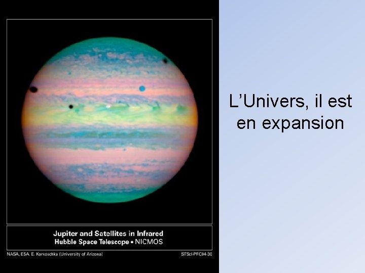 L'Univers, il est en expansion