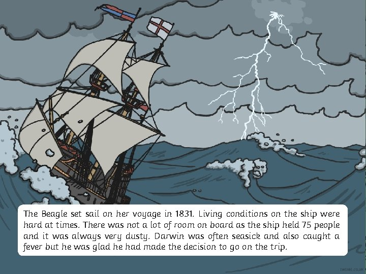 Aim Success Criteria The Beagle set sail on her voyage in 1831. Living conditions