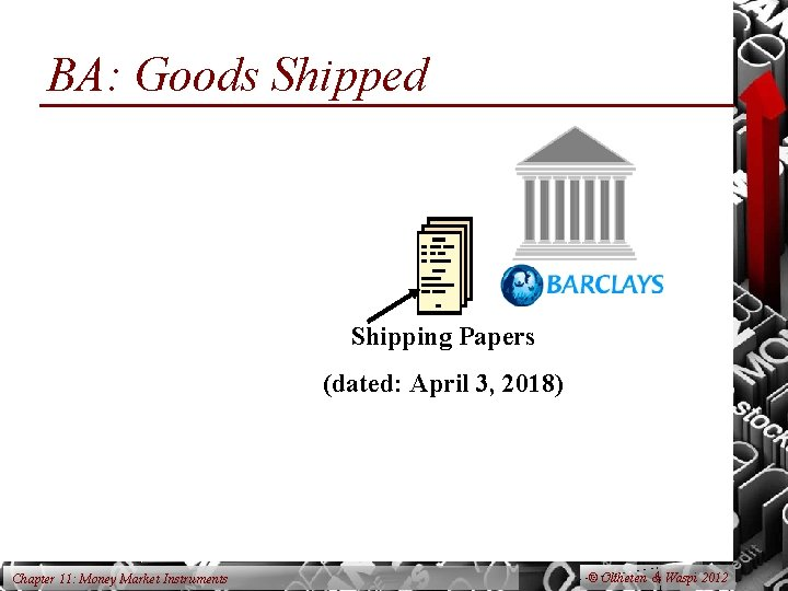 BA: Goods Shipped Shipping Papers (dated: April 3, 2018) Chapter 11: Money Market Instruments
