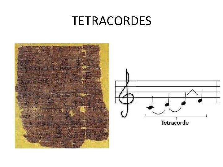 TETRACORDES