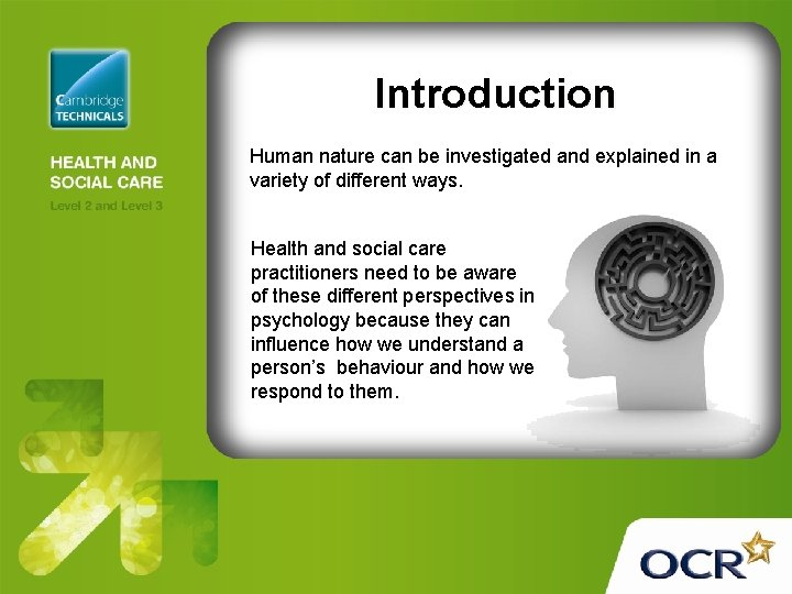 Introduction Human nature can be investigated and explained in a variety of different ways.