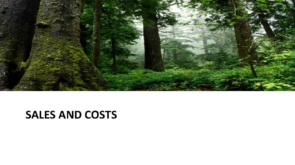 SALES AND COSTS