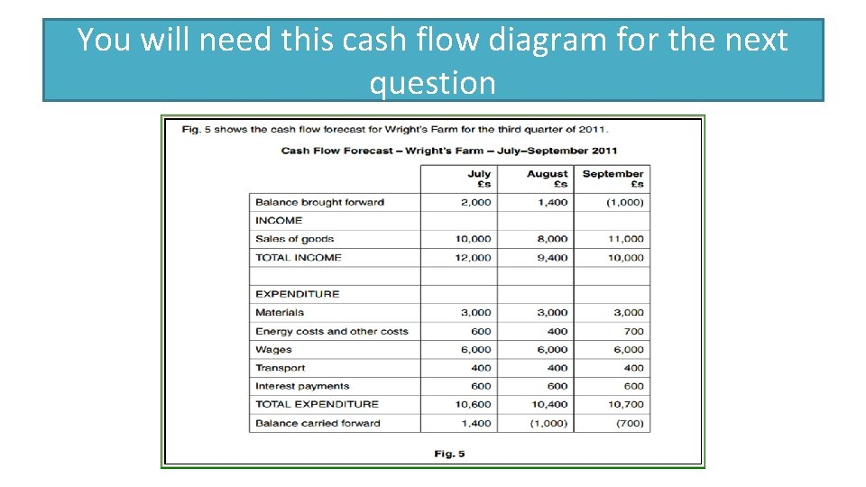 You will need this cash flow diagram for the next question