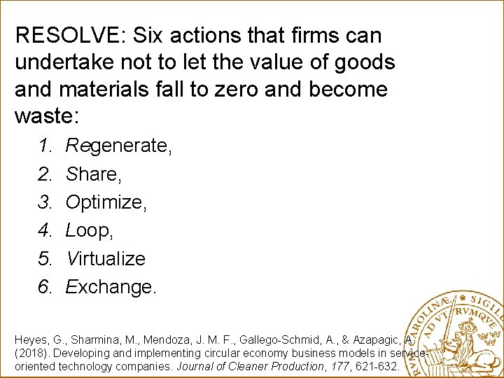RESOLVE: Six actions that firms can undertake not to let the value of goods