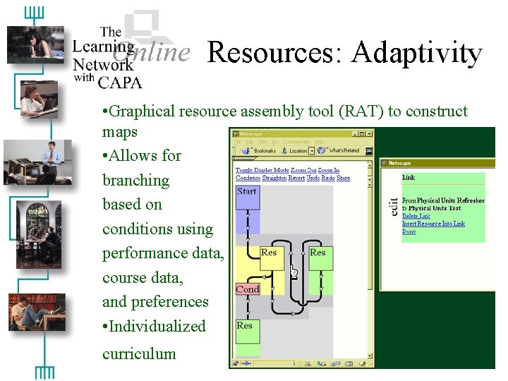 Resources: Adaptivity • Graphical resource assembly tool (RAT) to construct maps • Allows for