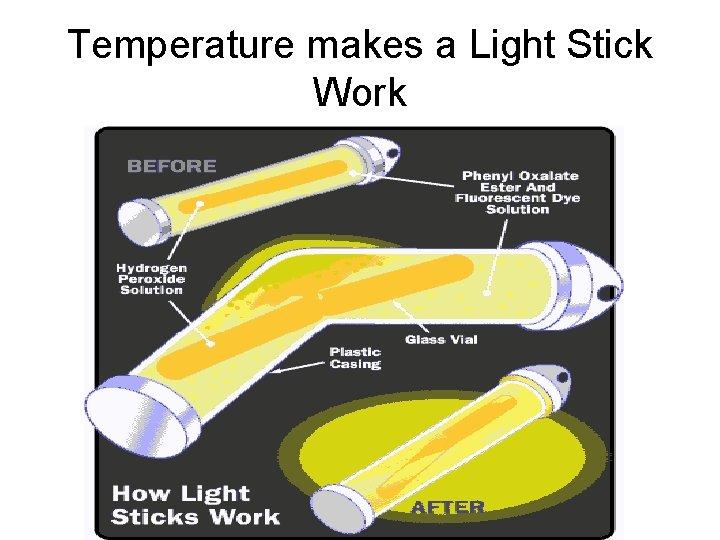 Temperature makes a Light Stick Work