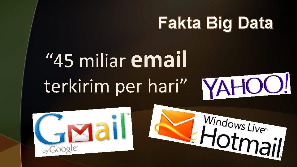 """Fakta Big Data """" 45 miliar email terkirim per hari"""""""