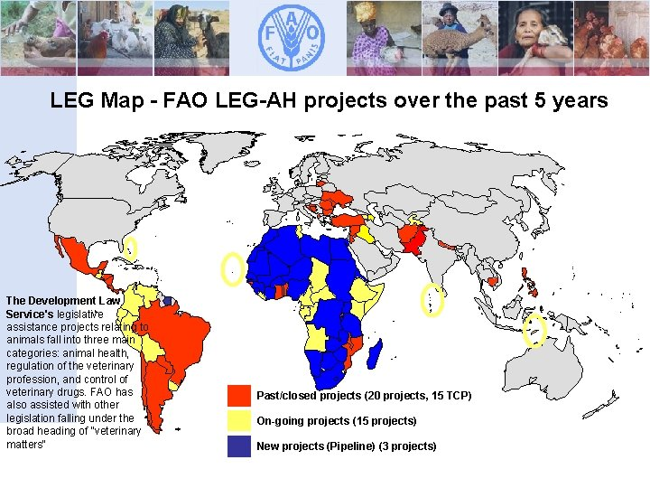 LEG Map - FAO LEG-AH projects over the past 5 years The Development Law