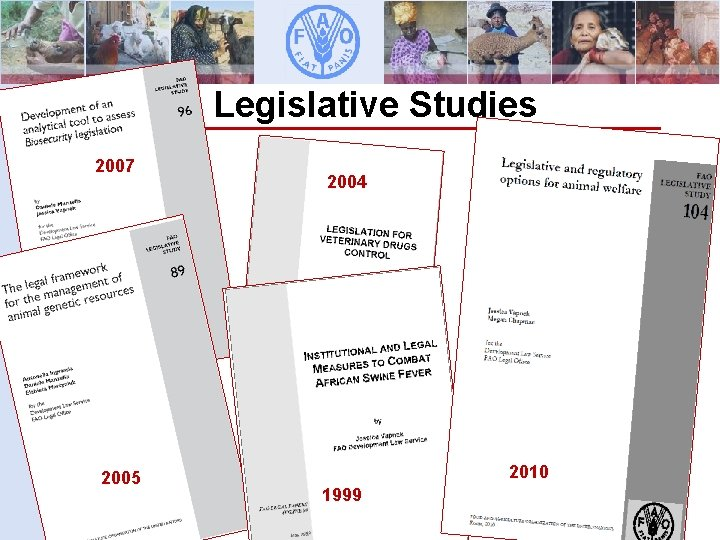Legislative Studies 2007 2005 Animal Production and Health Division 2004 2010 1999 Development Law