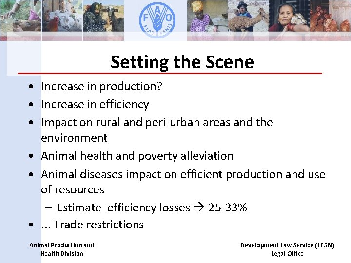 Setting the Scene • Increase in production? • Increase in efficiency • Impact on