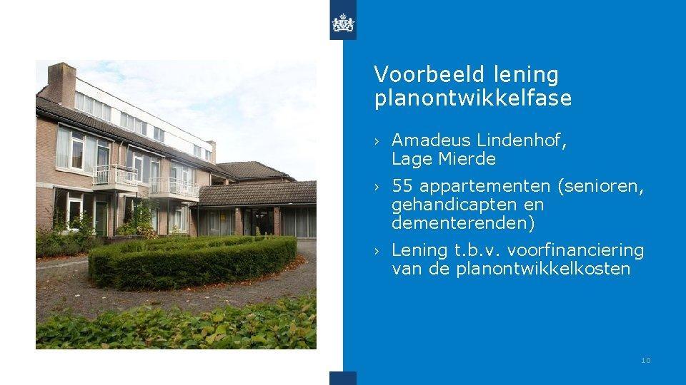Voorbeeld lening planontwikkelfase › Amadeus Lindenhof, Lage Mierde › 55 appartementen (senioren, gehandicapten en