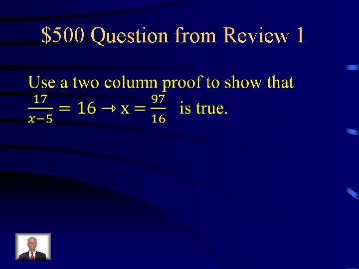 $500 Question from Review 1
