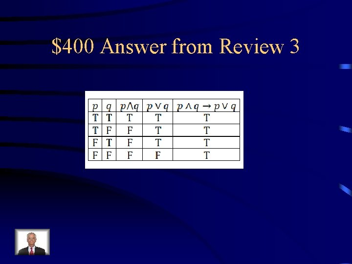 $400 Answer from Review 3
