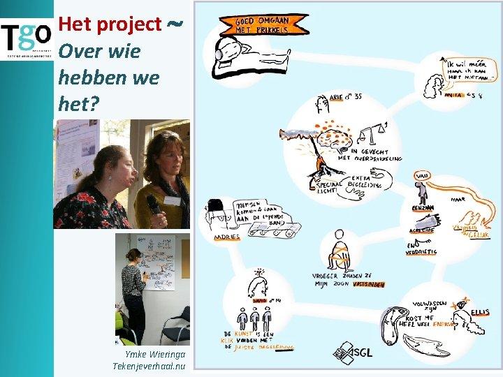 Het project Over wie hebben we het? Ymke Wieringa Tekenjeverhaal. nu