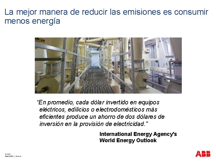 """La mejor manera de reducir las emisiones es consumir menos energía """"En promedio, cada"""