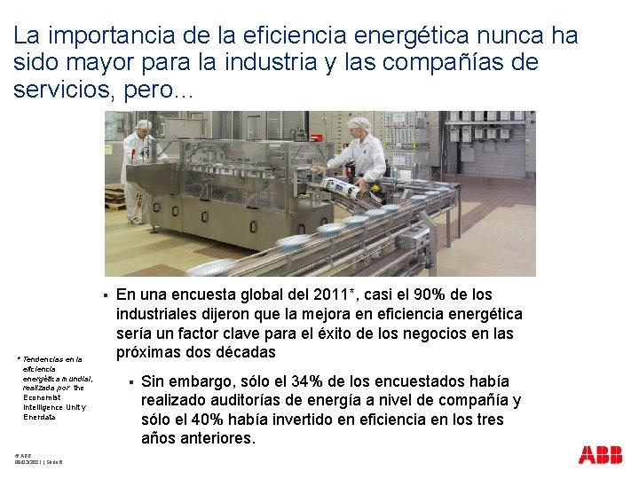 La importancia de la eficiencia energética nunca ha sido mayor para la industria y