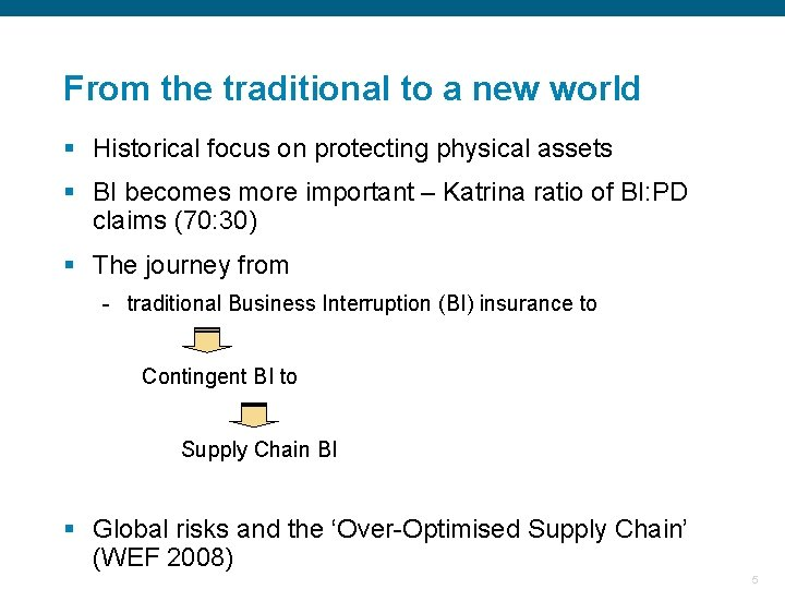 From the traditional to a new world § Historical focus on protecting physical assets