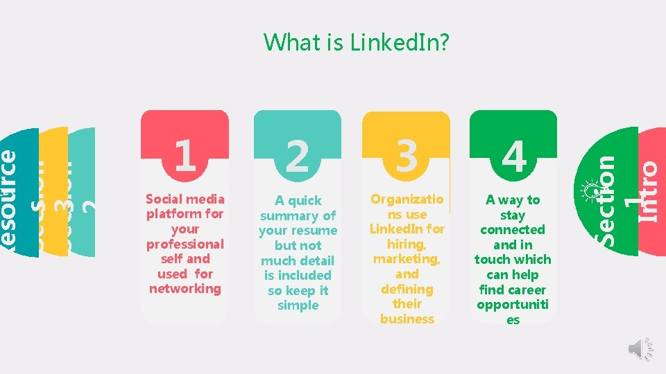 1 2 3 4 Social media platform for your professional self and used for