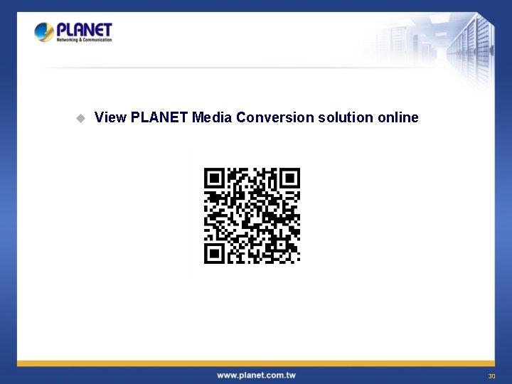 u View PLANET Media Conversion solution online 30