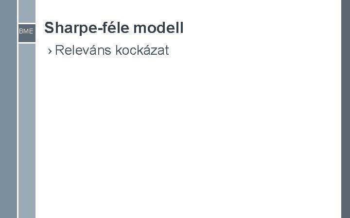 BME Sharpe-féle modell › Releváns kockázat