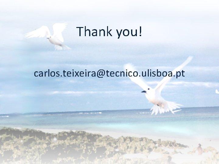 Thank you! carlos. teixeira@tecnico. ulisboa. pt