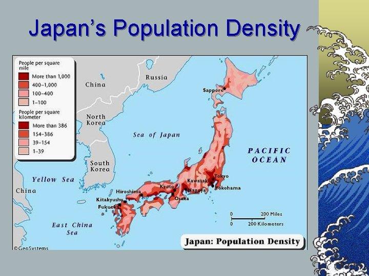 Japan's Population Density