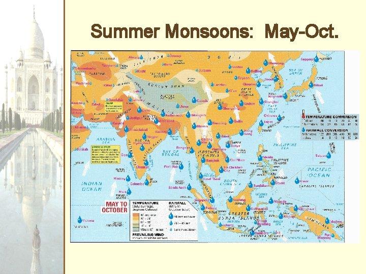 Summer Monsoons: May-Oct.