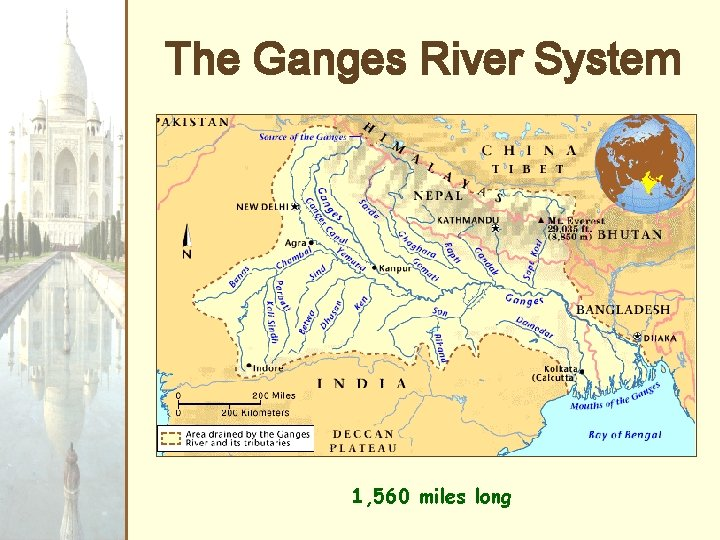 The Ganges River System 1, 560 miles long
