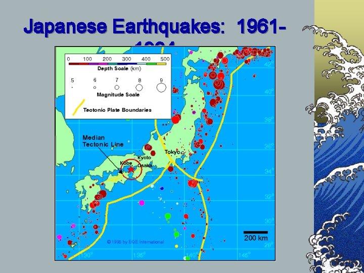 Japanese Earthquakes: 19611994