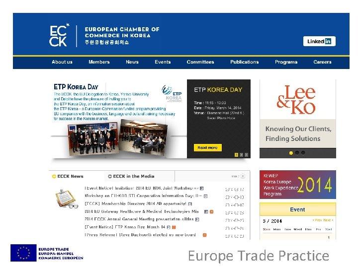 Europe Trade Practice