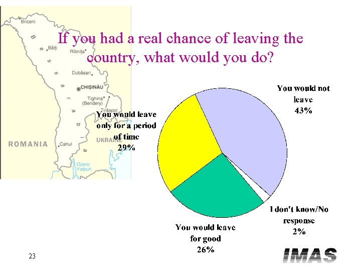 If you had a real chance of leaving the country, what would you do?