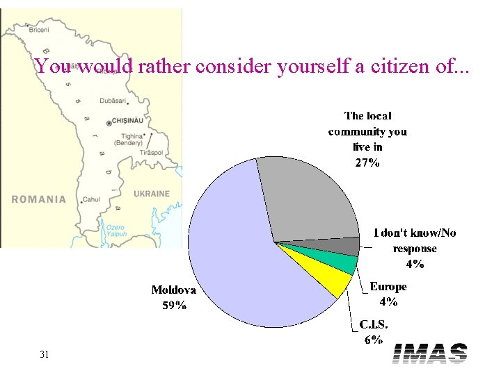 You would rather consider yourself a citizen of. . . 31